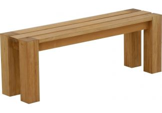 4-Foot Backless Teak Bench