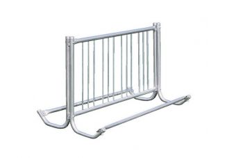 Commercial Park 5 Double Sided Bike Rack- Portable, Galvanized