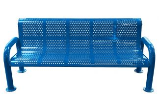 U-leg Perforated Metal Bench