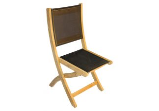 Teak Providence Chair no arm Batyline Black