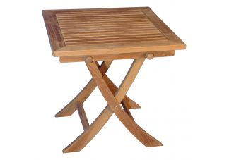 Teak Occasional Square Table 18.25 Sq, 18.5H