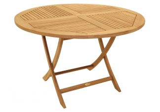 "47"" Round Folding Teak Sailor Table"