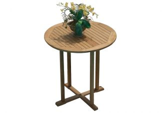 "39"" Round Teak Bar Table"
