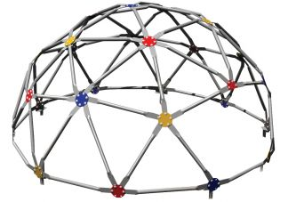 Commercial Playground GeoDome Climber- Multi Color Powder Coated Connectors
