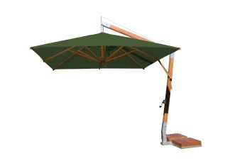 Sidewind -  11.5 foot Round Bamboo Cantilever Umbrella