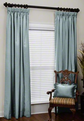 Custom Goblet Pleat Silk Drapes