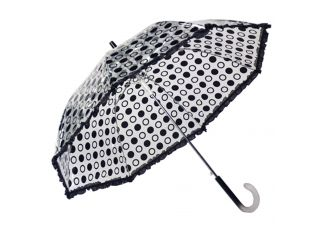 Black Polka Dot Rain Umbrella
