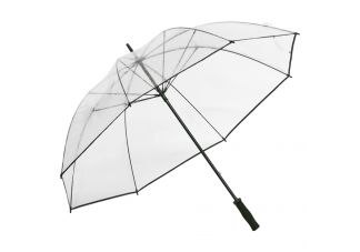 Clear Golf Umbrella with Black Trim