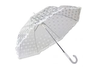 White Polka Dot Rain Umbrella