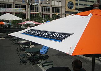 logo umbrellas are perfect for brand recognition