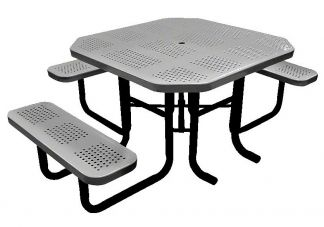 "46"" Perforated Octagonal Picnic Table"