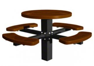 round picnic tables, picnic tables