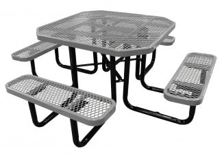 picnic table, octagonal picnic table, commercial picnic table, table, commercial table