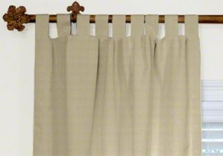 Custom tab top drapes