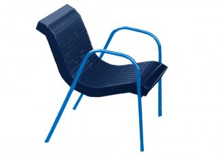 Modern Expanded Metal Stacking Canteen Chair