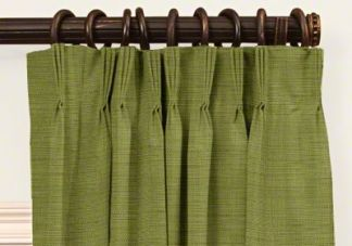 custom french pleat blackout curtains