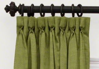 custom goblet pleat blackout curtains