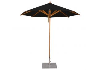 "8 3"" Levante Black Bamboo Market Umbrella"