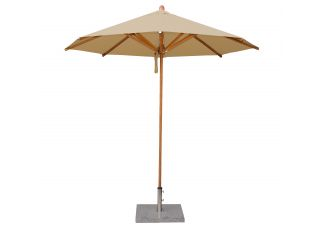 "8 3"" Levante Harvest Wheat Bamboo Market Umbrella"