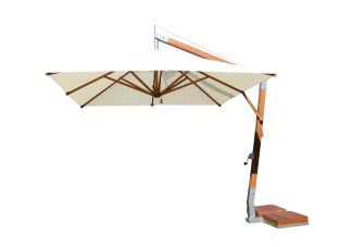 10 White Square Side Wind Cantilever Umbrella