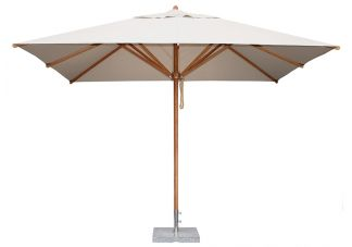 6.5 x 10 Rectangle Bamboo Market Umbrella