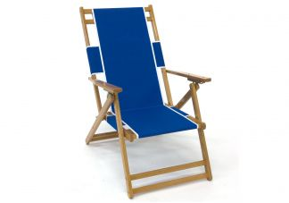 Classic Oak Wood Beach Chair