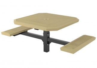 46 in. Infinity Innovated Ped Table -2 seats Inground Mount