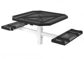 46 in. Octagon Roll Ped Table - 2 Seats