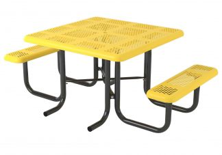 46 in. Perforated Portable Table - 2 Seat