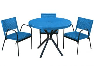 4-Piece Punched Metal Canteen Patio Set