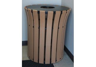 33-gallon Recycled Plastic Flare Top Trash Can
