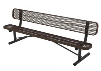 8 ft. UL Portable Bench w/ Back
