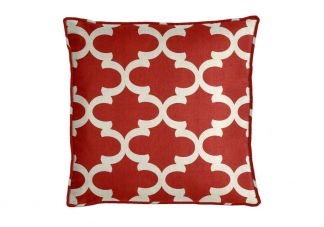 Premier Prints Fynn Timberwolf Red Pillow