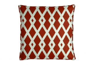 Robert Allen Graphic Fret Pomegranate Pillow
