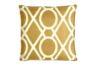 Robert Allen Lattice Bamboo Amber Pillow