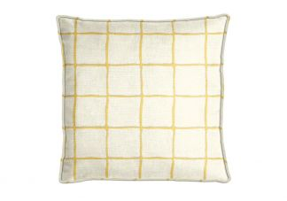 Robert Allen Painted Check Citrine Pillow