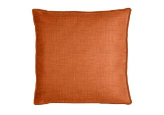 Robert Allen Slubbed Weave Orange Crush Pillow