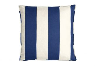 Al Fresco Cabana Stripe Royalty Blue Pillow