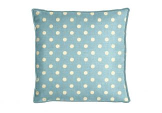 Premier Prints Ikat Dots Arctic Soft Blue Pillow