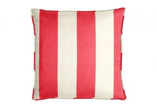 Al Fresco Cabana Stripe Berry Pillow
