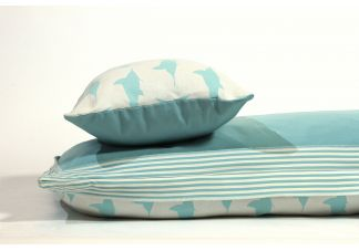 Amalfi Throw Bed - Al Fresco Marlin Cayo Blue and Outdura Canvas Aquatic