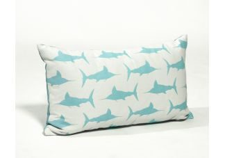 Al Fresco Marlin Cayo Blue and Outdura Canvas Aquatic Amalfi Throw Pillow