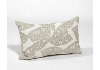 Sunbrella Shift Radiant Silver and Sunbrella Cast Silver Amalfi Throw Pillow