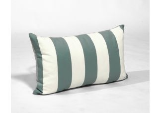 Al Fresco Cabana Stripe Spa and Sunbrella Hybrid Sky Amalfi Throw Pillow