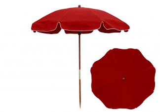 7.5 ft. Logo Red Beach Umbrella