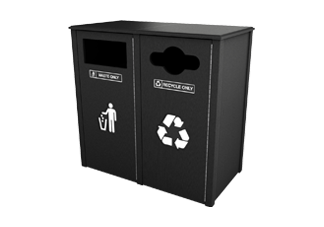 Recycled Plastic 26 Gallon Waste and Recycling Station