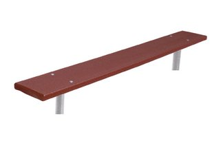 Commercial Park 6 Recycled Plastic Bench w/o Back- In Ground, Brown