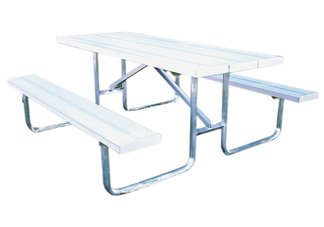 picnic tables, aluminum picnic tables, picnic table frames, steel picnic table frames