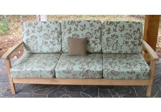 Atlantic Deep Seating Teak Sofa