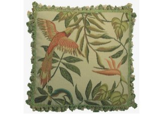 Bird of Paradise Needlepoint Pillow